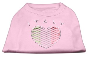 Italy Rhinestone Shirts Light Pink XXXL(20)