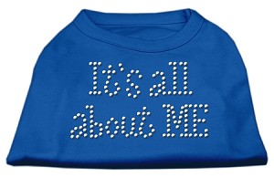 It's All About Me Rhinestone Shirts Blue XL (16)