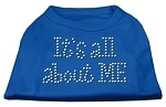 It's All About Me Rhinestone Shirts Blue Sm