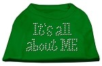 It's All About Me Rhinestone Shirts Emerald Green Sm