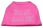 It's All About Me Rhinestone Shirts Bright Pink S