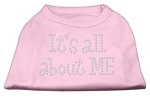 It's All About Me Rhinestone Shirts Light Pink S