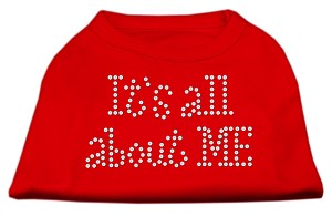 It's All About Me Rhinestone Shirts Red M