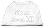 It's All About Me Rhinestone Shirts White S