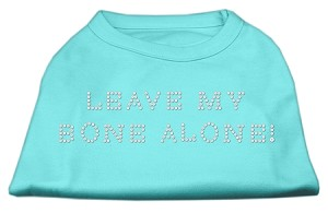 Leave My Bone Alone! Rhinestone Shirts Aqua XL (16)