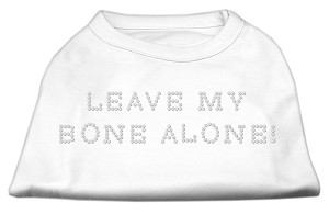 Leave My Bone Alone! Rhinestone Shirts White L (14)