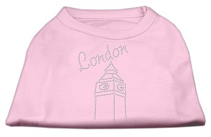 London Rhinestone Shirts Light Pink L