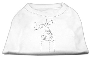 London Rhinestone Shirts White XS