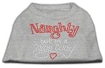 Naughty But Nice Rhinestone Shirts Grey XL