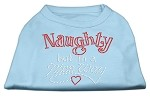 Naughty But Nice Rhinestone Shirts Baby Blue XS