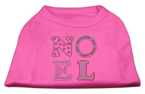 Noel Rhinestone Dog Shirt Bright Pink Med (12)