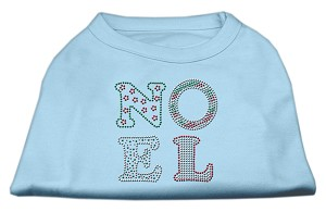 Noel Rhinestone Dog Shirt Baby Blue XS (8)