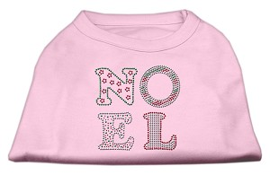Noel Rhinestone Dog Shirt Light Pink Sm