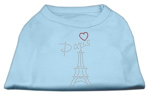 Paris Rhinestone Shirts Baby Blue XL (16)
