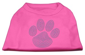 Blue Paw Rhinestud Shirt Bright Pink L (14)