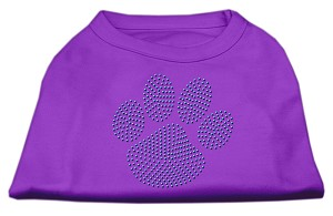 Blue Paw Rhinestud Shirt Purple XXXL(20)