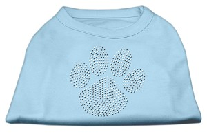 Clear Rhinestone Paw Shirts Baby Blue XL (16)