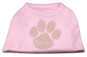 Gold Paw Rhinestud Shirt Light Pink XXXL(20)