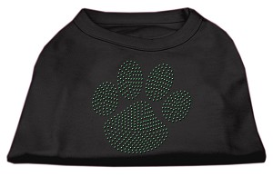Green Paw Rhinestud Shirts Black M (12)