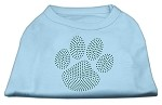 Green Paw Rhinestud Shirts Baby Blue S (10)
