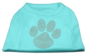 Orange Paw Rhinestud Shirts Aqua M (12)