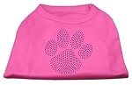 Purple Paw Rhinestud Shirts Bright Pink XS