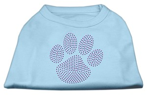 Purple Paw Rhinestud Shirts Baby Blue XXL (18)