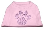 Purple Paw Rhinestud Shirts Light Pink XS