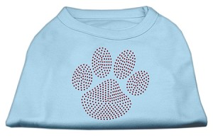 Red Paw Rhinestud Shirts Baby Blue S