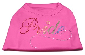 Rainbow Pride Rhinestone Shirts Bright Pink XL (16)