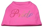Rainbow Pride Rhinestone Shirts Bright Pink XL