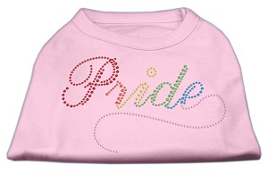 Rainbow Pride Rhinestone Shirts Light Pink XS (8)