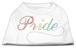 Rainbow Pride Rhinestone Shirts White XL