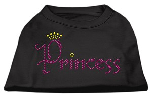 Princess Rhinestone Shirts Black L