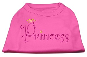 Princess Rhinestone Shirts Bright Pink XXL (18)