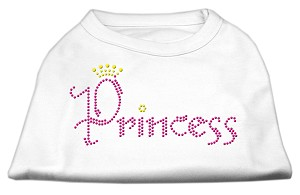 Princess Rhinestone Shirts White XXL