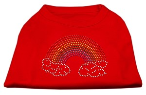 Rhinestone Rainbow Shirts Red M (12)