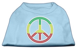 Rasta Peace Sign Shirts Baby Blue XS (8)