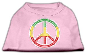 Rasta Peace Sign Shirts Light Pink L (14)