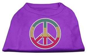 Rasta Peace Sign Shirts Purple XXXL(20)