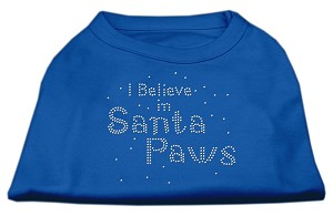 I Believe in Santa Paws Shirt Blue Sm (10)