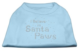 I Believe in Santa Paws Shirt Baby Blue XXXL(20)
