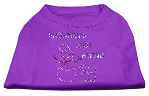 Snowman's Best Friend Rhinestone Shirt Purple XXL (18)