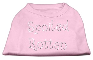 Spoiled Rotten Rhinestone Shirts Light Pink XXXL(20)