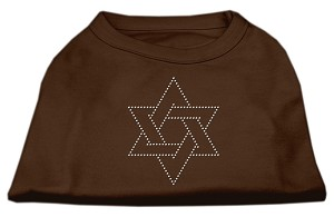 Star of David Rhinestone Shirt Brown Lg (14)