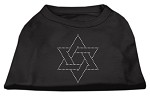 Star of David Rhinestone Shirt Black XS