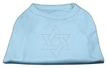 Star of David Rhinestone Shirt Baby Blue XS
