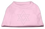 Star of David Rhinestone Shirt Light Pink XS