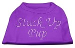 Stuck Up Pup Rhinestone Shirts Purple XS (8)