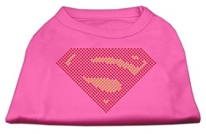 Super! Rhinestone Shirts Bright Pink M (12)